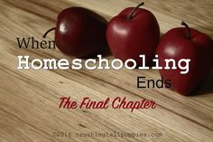When Homeschooling Ends–The Final Chapter