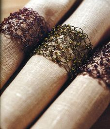 Knitting Wire Napkin Rings