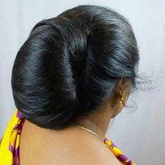 Beautiful Buns, Beautiful Long Hair, Amazing Hair, Beautiful Women, Bun Hairstyles For Long Hair, Updo Hairstyle, Indian Face, Big Bun, India Beauty