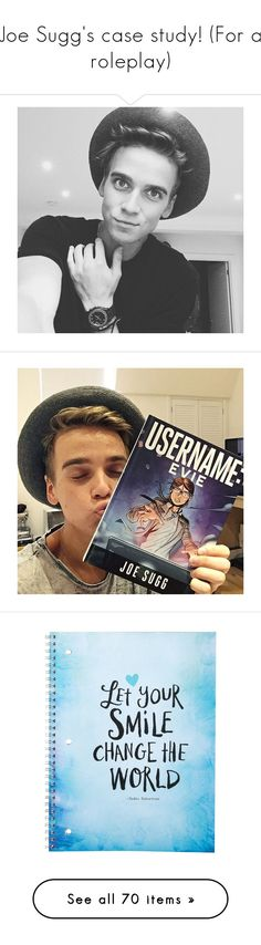 """Joe Sugg's case study! (For a roleplay)"" by na-na-na-na-na-natman ❤ liked on Polyvore featuring joe sugg, home, home decor, stationery, notebooks, brown, clothing & accessories, sculpture, handmade home decor and ceramic home decor"
