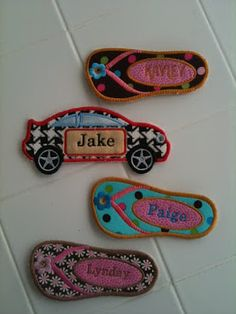 Quilted name tags or better yet mug rugs!