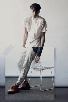 Gadir Rajab/ white/ shirt/ chair/ collage