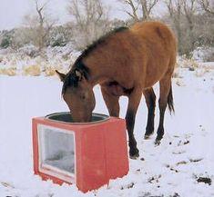 Suntanks: Freeze-proof Solar Heated Horse Waterers,Cow Water Tanks