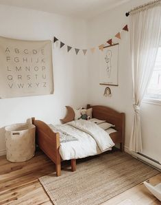 Kids Bedroom, Bedroom Decor, Minimalist Bed, Baby Playroom, Toddler Rooms, Little Girl Rooms, Inspired Homes, Boy Room, Baby Decor