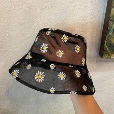 Transparent Daisy Bucket Hat