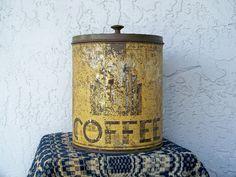 Shabby Art Deco Standard Coffee Tin Canister