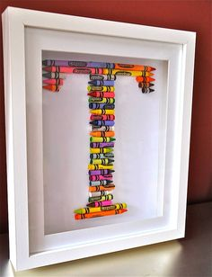 crayola letter art by the letteroom | notonthehighstreet.com