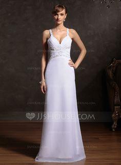 Holiday Dresses - $136.99 - Sheath Sweetheart Floor-Length Chiffon Holiday Dress With Ruffle Beading (020015086) http://jjshouse.com/Sheath-Sweetheart-Floor-Length-Chiffon-Holiday-Dress-With-Ruffle-Beading-020015086-g15086?ver=n1ug2t&ves=k41wn