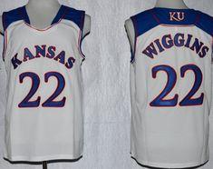 36f8f6a756c0 Kansas Jayhawks  22 Andrew Wiggins White Jersey