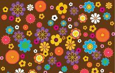 flores e fundo marrom