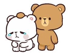 Animated gif shared by Kikis Cantú. Find images and videos about gif, couple and kawaii on We Heart It - the app to get lost in what you love. Cute Couple Cartoon, Cute Love Cartoons, Chibi Cat, Cute Chibi, Cute Bear Drawings, Cute Cartoon Drawings, Crying Gif, Bear Gif, Hug Gif