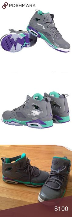 Nike air Jordan flight club 91 grey violet teal Adorable Nike air Jordans!!  Grey 23214c14a