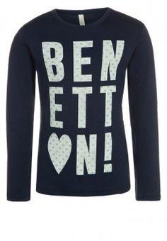 Benetton - Bluzka z długim rękawem - blue