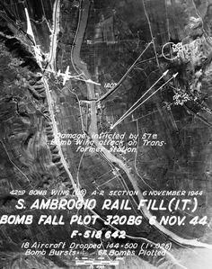 WWII in Italy - S.Ambrogio Valpolicella ( Verona) rail station - Mission 396 - 6 November 1944.