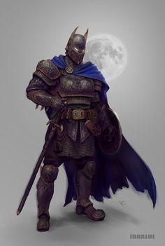 i attempted to attract a medieval batman Batman Kunst, Batman Art, Comic Character, Character Concept, Character Design, Batman The Dark Knight, Batman Universe, Dc Universe, Comic Kunst
