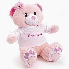 Personalized Plush Bear - flower girl