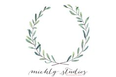 Watercolor wreath & floral clipart by michLg studios on @creativemarket