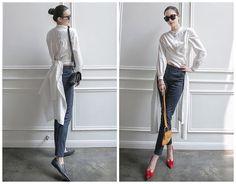 long white shirtwhite shirt womenlong sleeve by HerselfStudios