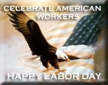Celebrate American Workers Happy Labor Day Glitter
