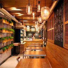 Simple cafe decor ideas best coffee shop interior design on fabulous Cafe Restaurant, Concept Restaurant, Small Restaurant Design, Restaurant Interior Design, Modern Restaurant, Fast Food Restaurant, Café Design, Design Blog, Design Ideas