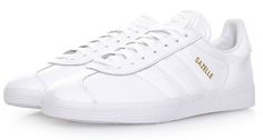 Adidas Gazelle trainers return in all-white leather - Adidas White Sneakers - Latest and fashionable shoes - Adidas Gazelle trainers return in all-white leather All White Sneakers, New Sneakers, Casual Sneakers, Sneakers Fashion, Adidas Sneakers, Sneakers Outfit Work, Sneaker Outfits Women, Gazele Adidas, Adidas Gazelle White