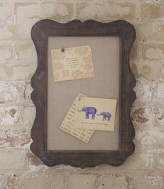 I really like this Vintage Pin Board $39.95, especially with notes (from the 150 Love Notes pack) pinned to it!