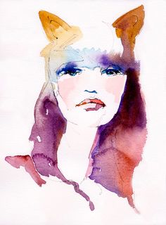 Cat Woman | Cate Parr #watercolor  #illustration @Kaitlyn Marie Flaherty one day this will be you ;)