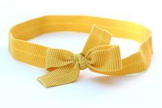 Image of Yellow Corduroy Bow Headband
