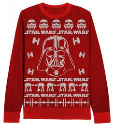 Adult Red Movie Star Wars Darth Vader Stormtroopers Ugly Christmas Sweater in Clothing, Shoes & Accessories | eBay