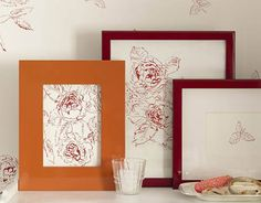 Slip a cutting in a store-bought frame for instant (and inexpensive) artwork.   - HouseBeautiful.com