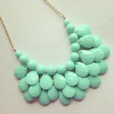 Statement Necklace in Aqua Blue