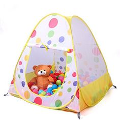 Truedays® 36.6'' X 38.2''kids Teepee Play Tent Ball Pit Playhouse - Indoor and Outdoor Children Play Tent - Balls Not Include