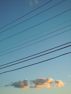 Cloud and Wires, Caroga Lake, NY