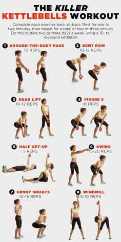 8 Kettlebell Exercises That'll Sculpt Your Entire Body www.womenshealthm… – 8 Kettlebell Exercises That'll Sculpt Your Entire Body www.womenshealthm… – 8 Kettlebell Exercises That'll Sculpt Your Entire Body www. Full Body Workouts, Fitness Workouts, Fitness Motivation, At Home Workouts, Workouts To Tone, Ab Workouts With Weights, Upper Body Workout Plan, Full Body Strength Workout, Upper Body Hiit Workouts