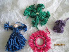 Stash buster yarn ornaments