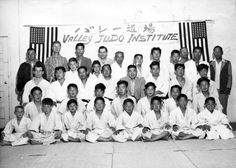 Valley Judo Institute students at Valley Japanese Community Center, 1955. The Judo Institute started at the Community Center in 1954. San Fernando Valley History Digital Library.