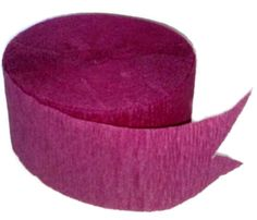 """Amazon.com: [Single Pack] Crepe Paper Streamer Roll """"Stylish Design"""" for Decoration and Craft Supply with 81' Ft / 24.7 M Length {Rose Burgandy Color}"""