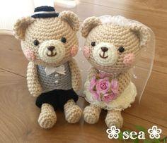 Weeding couple bear