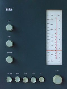 Dieter Rams - Braun - Nice clean knobs! Perfect placement. Beautiful design.