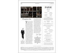Paper Magazine No.39 by Manos Daskalakis, via Behance