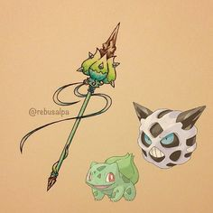 Pokeapon Fusion - Bulbasaur & Glalie. Request by @jswazz24.