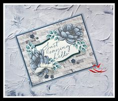 Stamping Up Cards, Rubber Stamping, Wink Of Stella, Stampin Up Catalog, Paper Cards, Flower Cards, Paper Design, Homemade Cards, Making Ideas