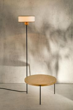 This curvaceous form introduces a mildly retro aesthetic. As we often do, we have combined the needs of two-in-one offering a lamp option as well. Metal Tables, Wooden Tables, Round Side Table, Retro Aesthetic, Table Furniture, This Is Us, Nice, Design, Home Decor