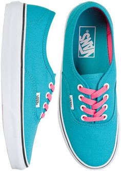 Vans Authentic Blue  Pink cute colours go really well together! ❤️
