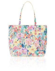 Iris Print Cassidy Satchel Bag   Multi   Accessorize   Fashion ...