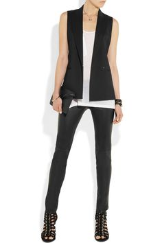 Theory | Annea sleeveless wool-blend tuxedo jacket | NET-A-PORTER.COM