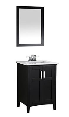 Simpli Home Winston Collection Bath Vanity, Blacku2026