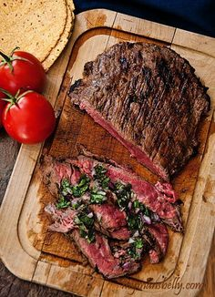 Brazilian Grilled Flank Steak by mymansbelly: Dinner made easy. Fire up the grill! This tangy and spicy Brazilian flank steak marinade will have your senses singing. Grilled flank steak means dinner is quick and tasty. Easy Steak Recipes, Grilling Recipes, Meat Recipes, Cooking Recipes, Healthy Recipes, Water Recipes, Flank Steak Recipes, Food52 Recipes, Skirt Steak Recipes