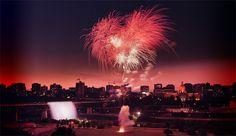 Canada Day Fireworks- patriotic red!