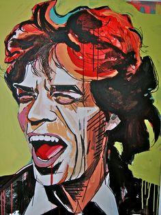 Mick Jagger portrait by lauramythompson. #rollingStones